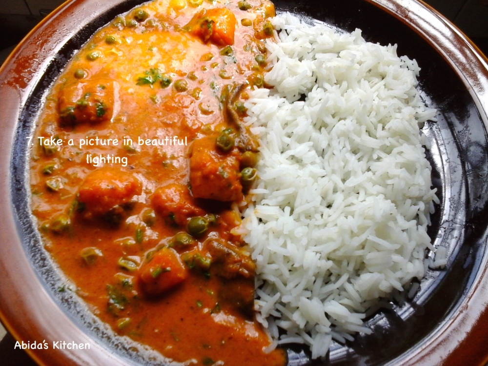 PEA &BUTTERNUT COCONUT CURRY SERVED WITH RICE | abidabuoroskitchen.wordpress.com