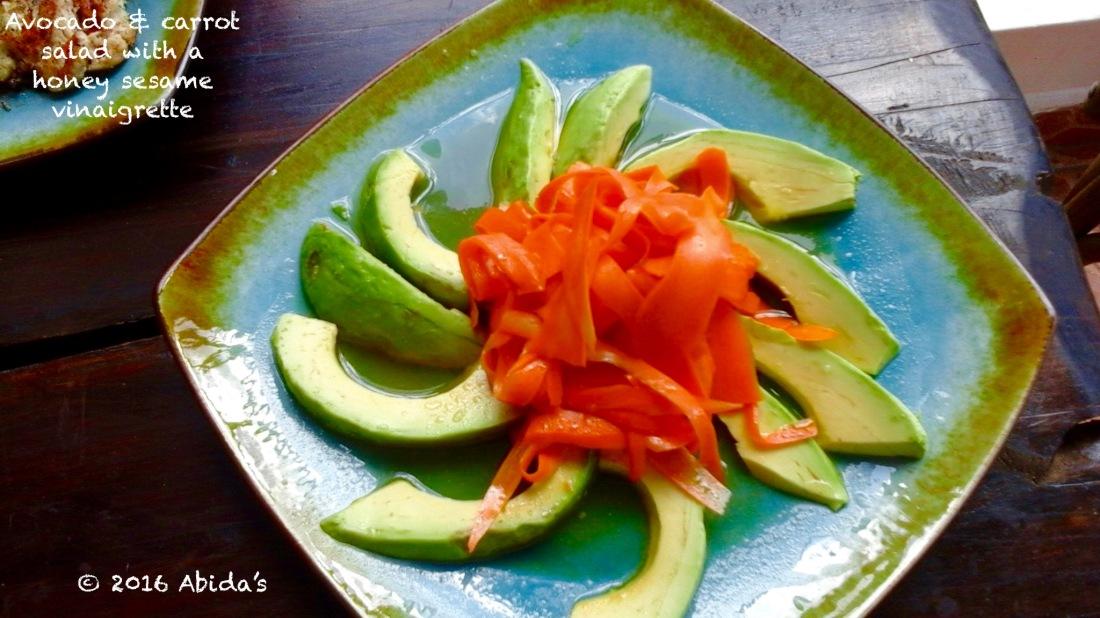 Avocado & Carrot Salad with a Honey sesame vinaigrette   Abida's Kitchen
