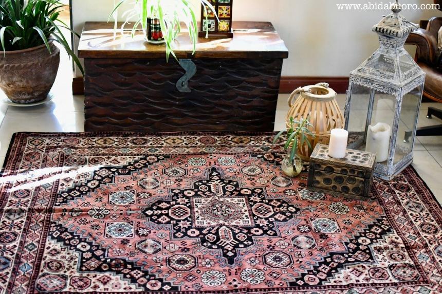 DH002b pale pink persian rug
